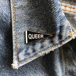 Queer Pennant Enamel Pin - Salix Intimates