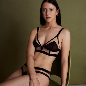 Break The Glass Ceiling Longline Triangle Bra