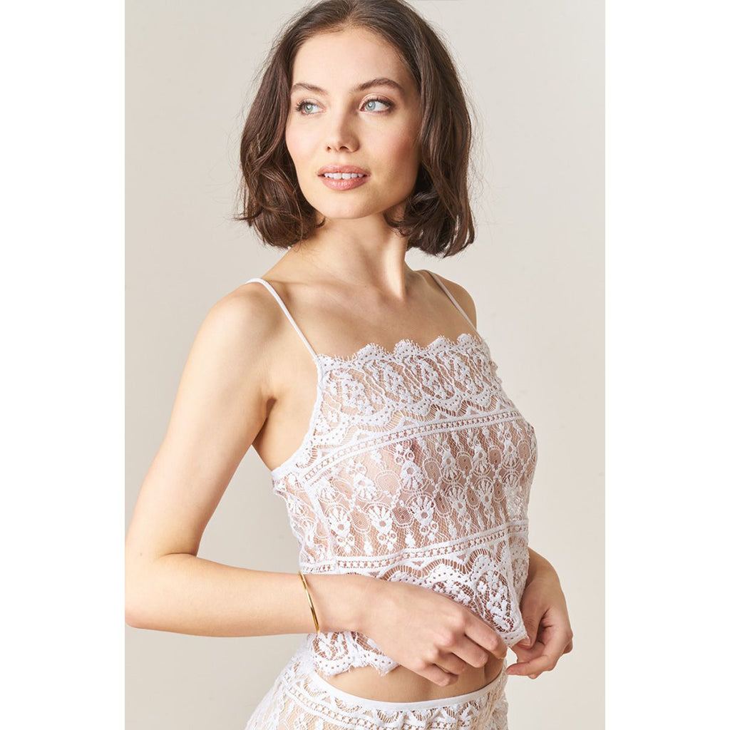 Victorian Lace Double Scallop Camisole - Salix Intimates