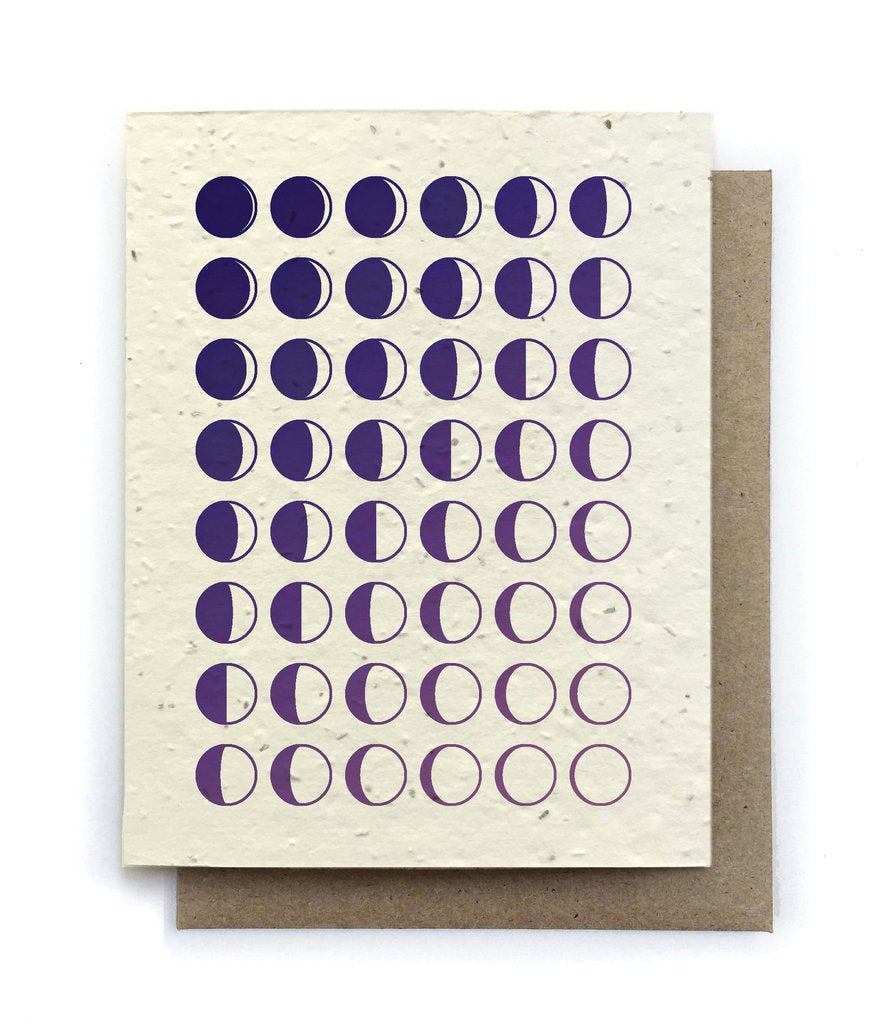 Moon Phase Birthday Plantable Seeded Card - Salix Intimates