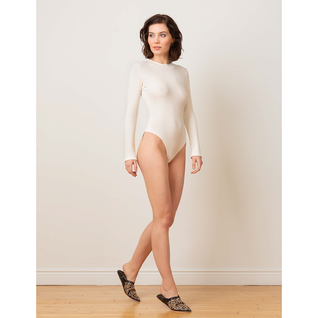 Eco Rib T-Shirt Bodysuit - Salix Intimates