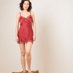 Silk Charmeuse Mini Slip - Salix Intimates