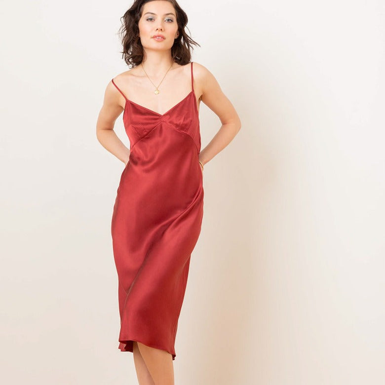Silk Slip Dress - Salix Intimates