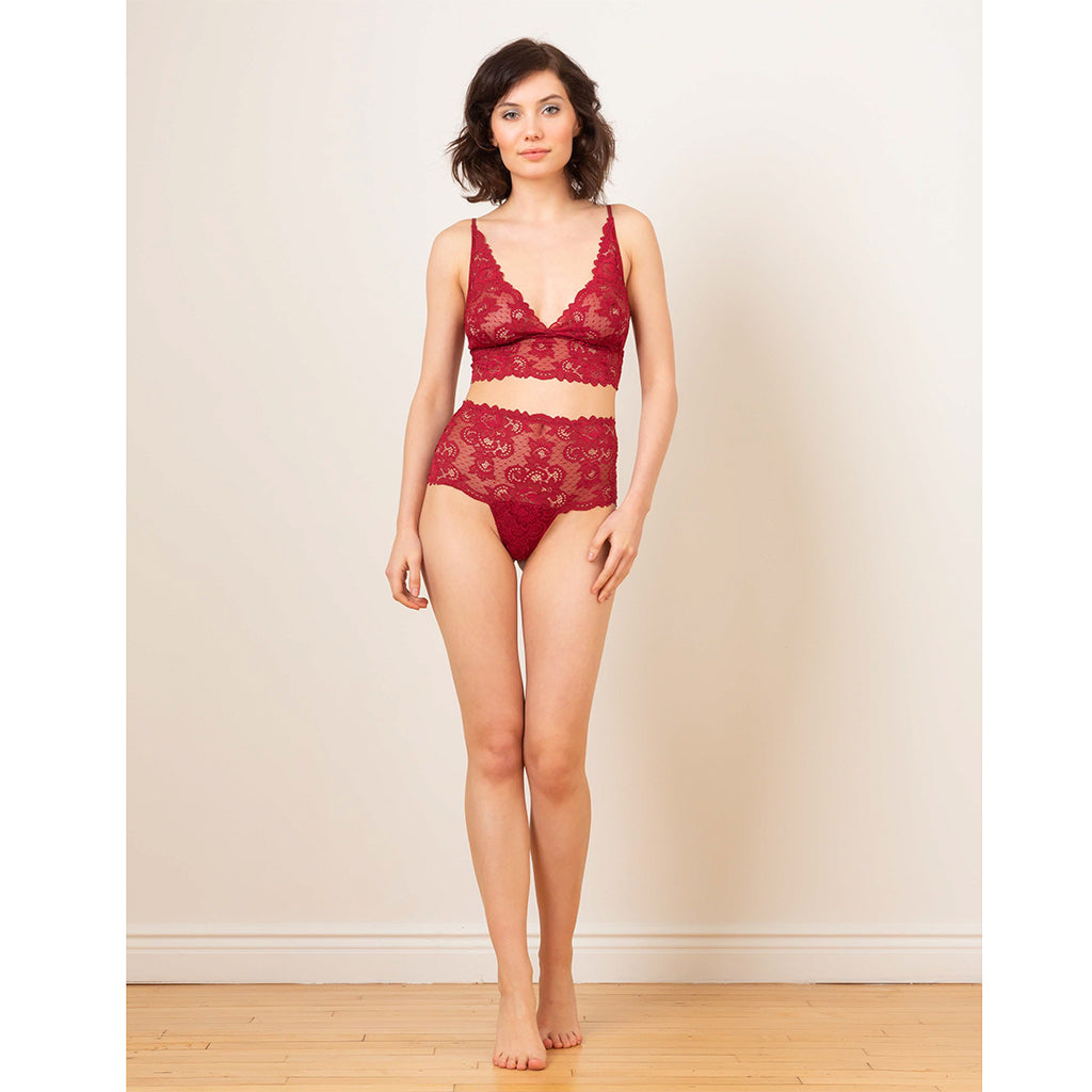 Recycled Lace High Waist Thong - Salix Intimates