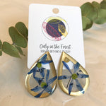 Large Foraged Botanical Teardrop Earrings - Salix Intimates
