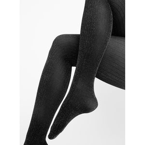 Lisa Lurex Rib Tights - Salix Intimates
