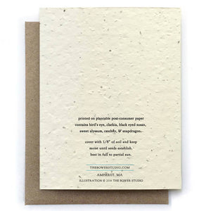 Deer Plantable Seeded Card - Salix Intimates