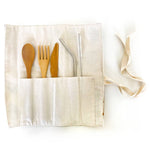 Stripe Printed 8pc Reusable Cutlery & Straw Set - Salix Intimates