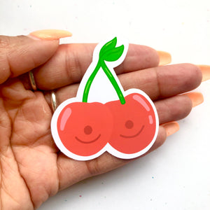 Cherry Boobs Sticker