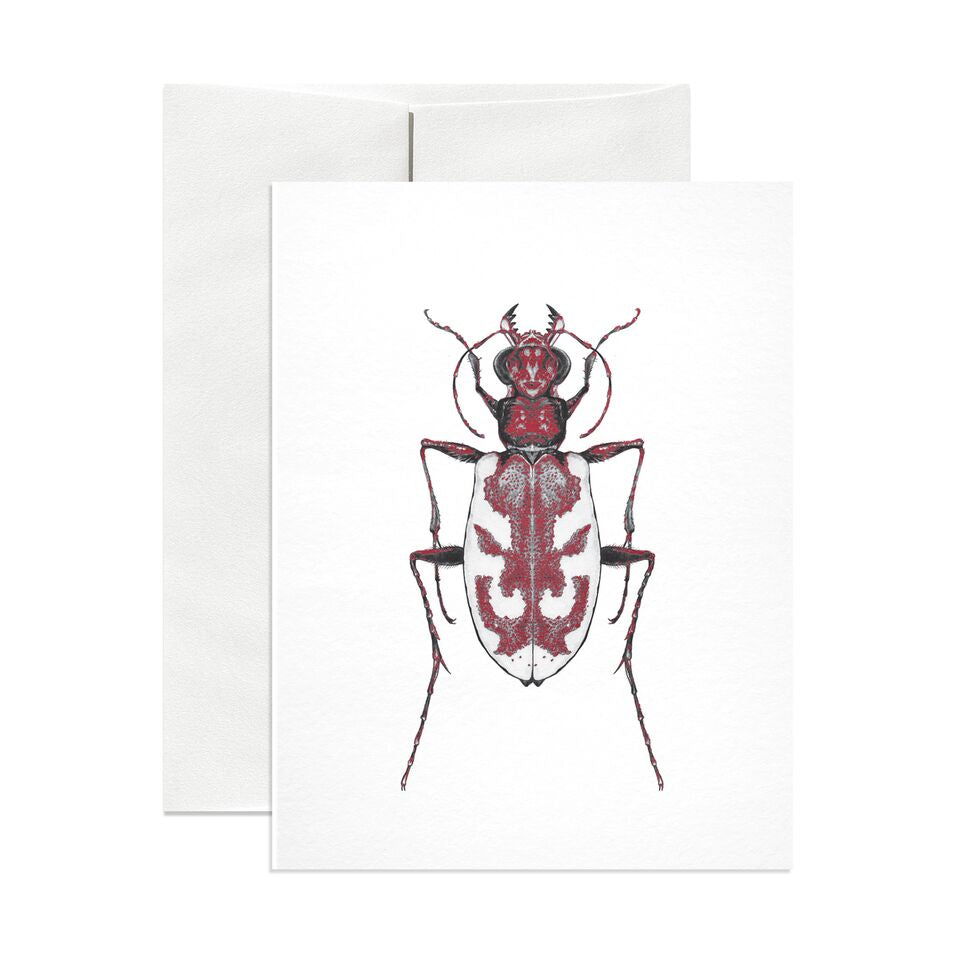 Blowout Tiger Beetle Greeting Card - Salix Intimates