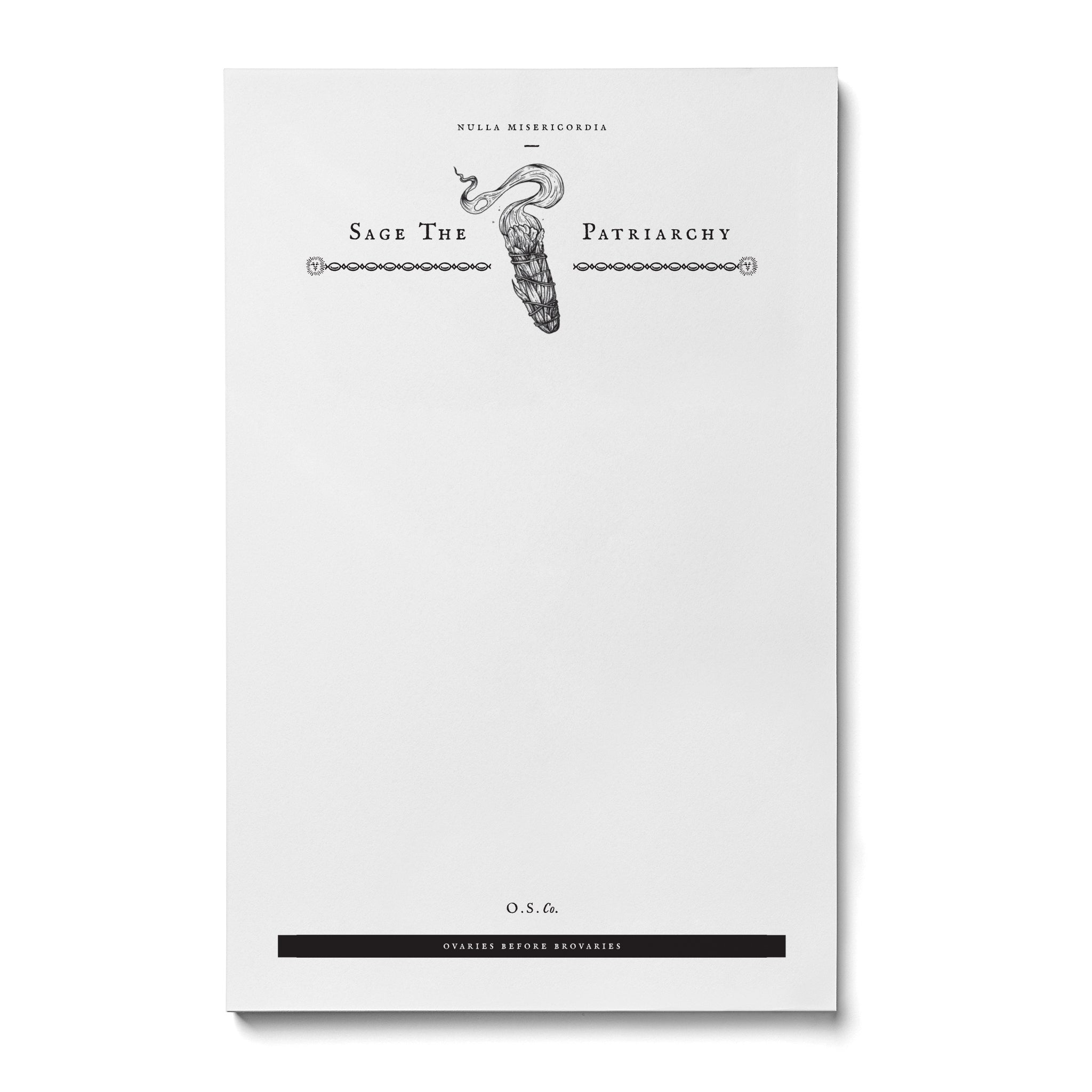 Sage The Patriarchy Notepad - Salix Intimates