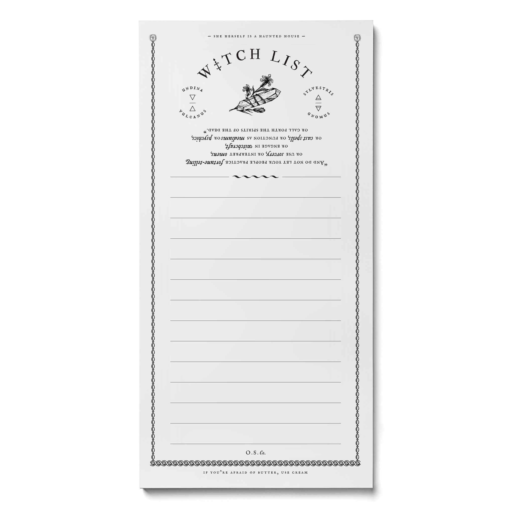 Witch List Market Notepad - Salix Intimates