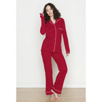 Organic Cotton PJ Set with Long Pants - Salix Intimates