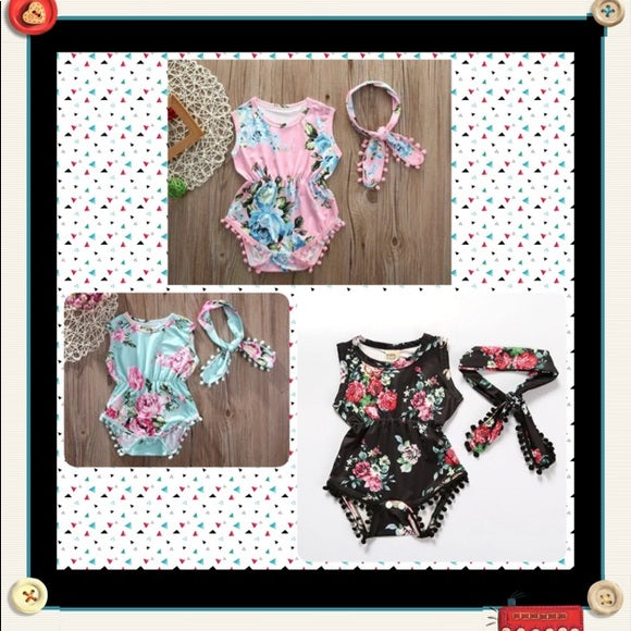 Brand New Onsie Rompers With Headband