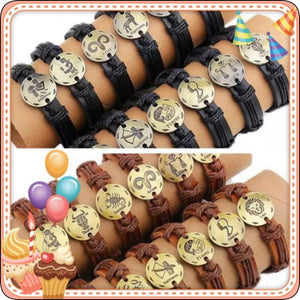 Brand New Leather Horoscope Bracelets