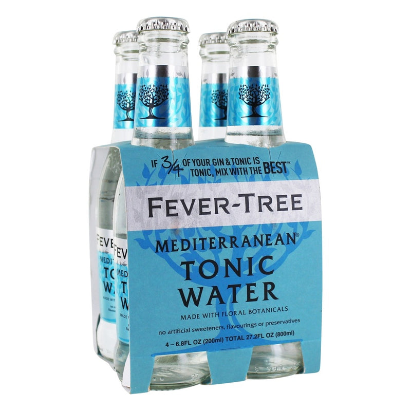 Fever Tree Mediterranean Tonic Water - 4 Pack