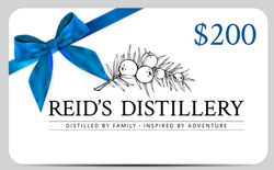 Reid's Distillery On-premise Gift Card - 200$