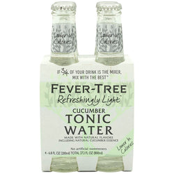 Fever Tree Cucumber Light Tonic Water - 4 Pack
