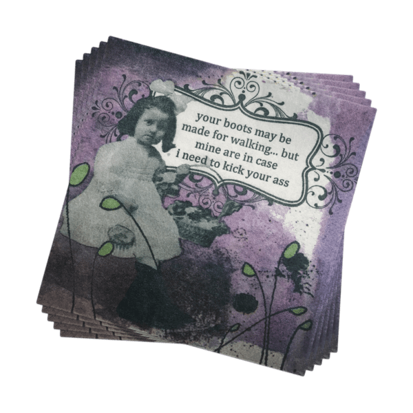HOLY CRAP FUNNY COCKTAIL NAPKINS -BOOTS COCKTAIL NAPKINS - A Blissfully Beautiful Boutique