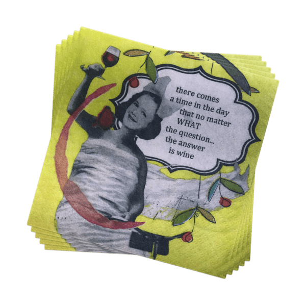 HOLY CRAP FUNNY COCKTAIL NAPKINS - Bicycle Cocktail Napkins - A Blissfully Beautiful Boutique