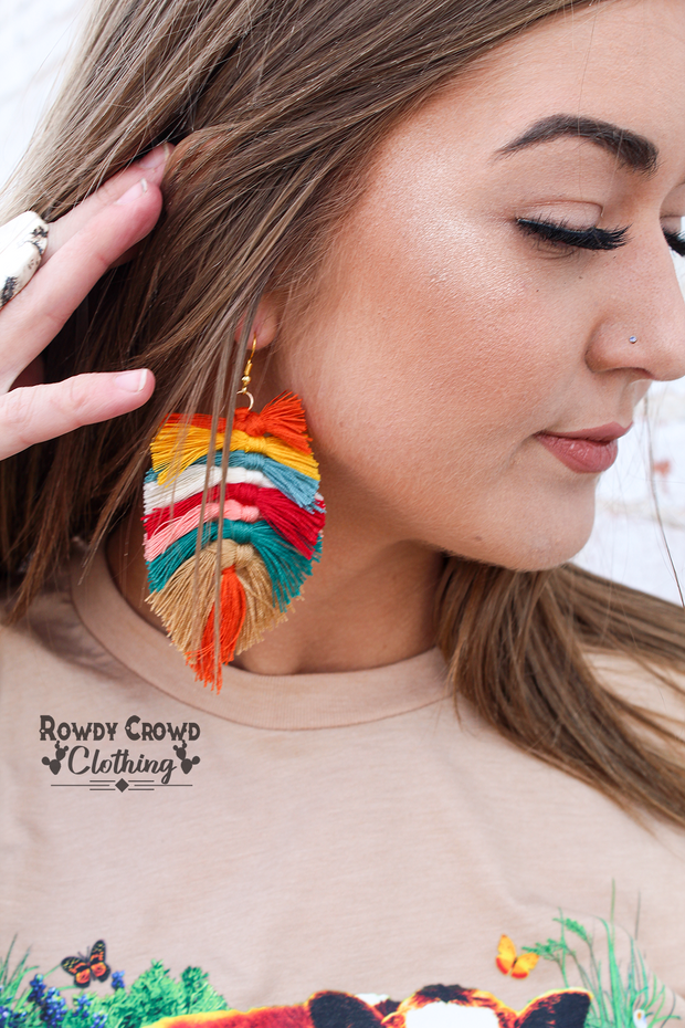 Bright Boho Earrings - A Blissfully Beautiful Boutique