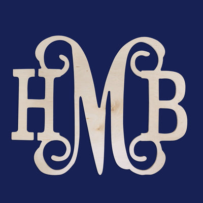 Classic Vine Wood Monogram - A Blissfully Beautiful Boutique