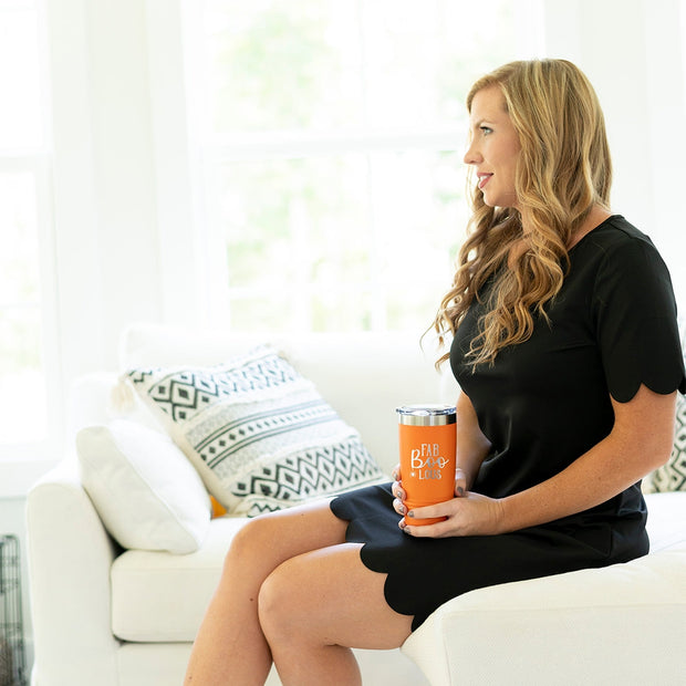 Fab-Boo-Lous Orange 20oz Insulated Tumbler - A Blissfully Beautiful Boutique