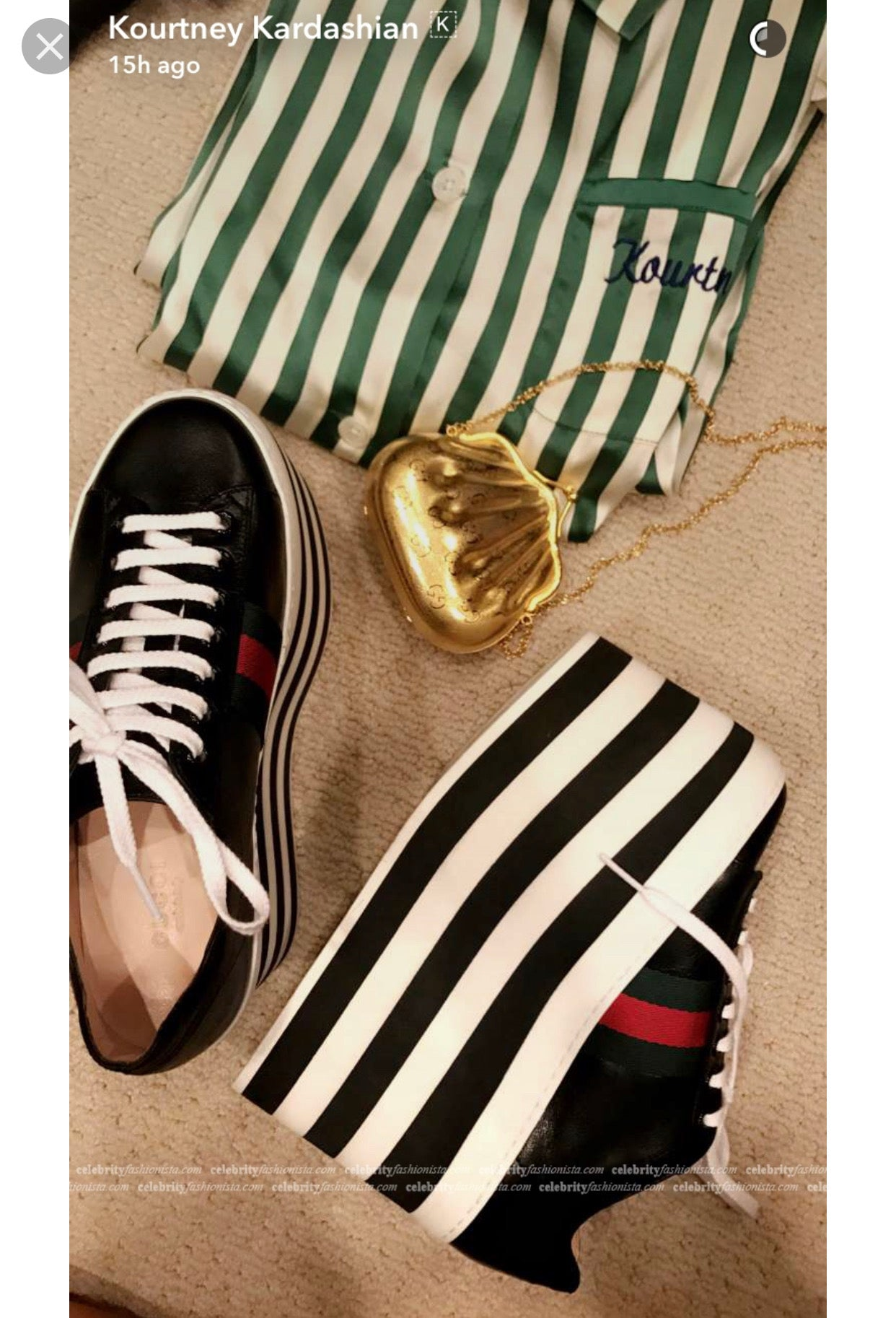 06853629c4ac ... Gucci Peggy Leather Platform Sneakers - Dyva s Closet ...
