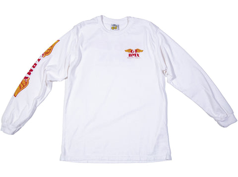 GT Wings Long Sleeve - White w/ Red & Yellow