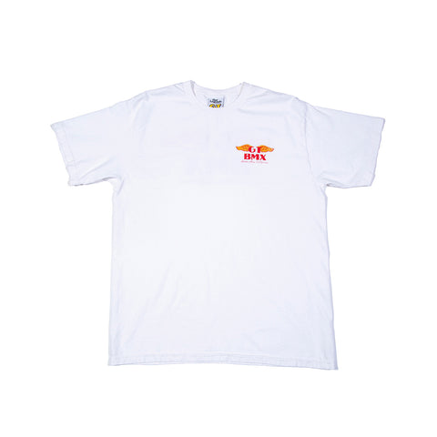 GT Wings T-Shirt - White w/ Red & Yellow