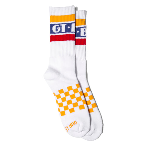 GT BMX Racing Sock -White/Gold