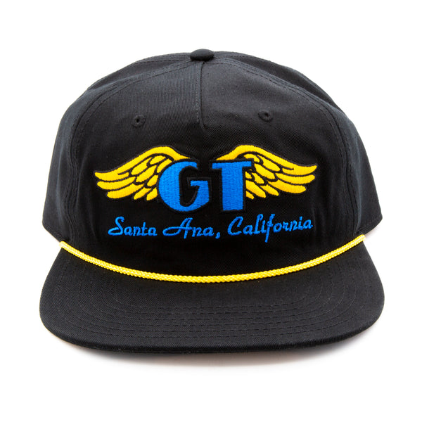 GT Classic Wings Hat - Black w/ Blue & Gold