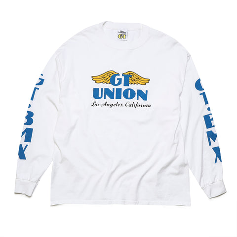 GT x UNION Wings Long Sleeve - White
