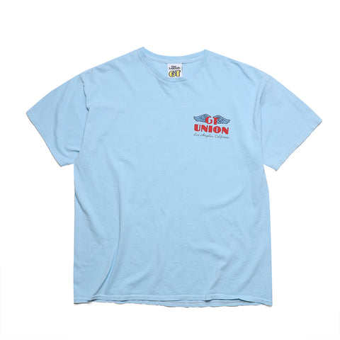 GT X UNION Wings Tee - Etna Blue