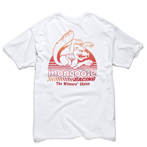 Mongoose Sunset Tee - White