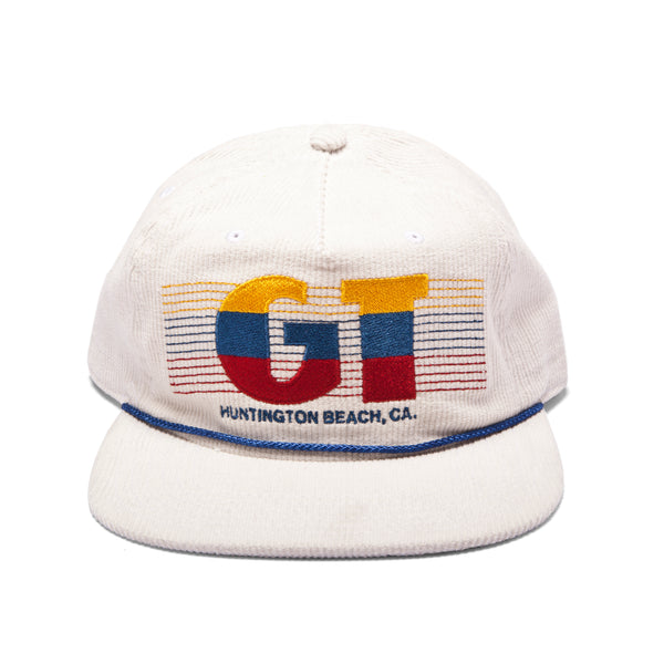 GT Corduroy W/ Embroidery Hat - White