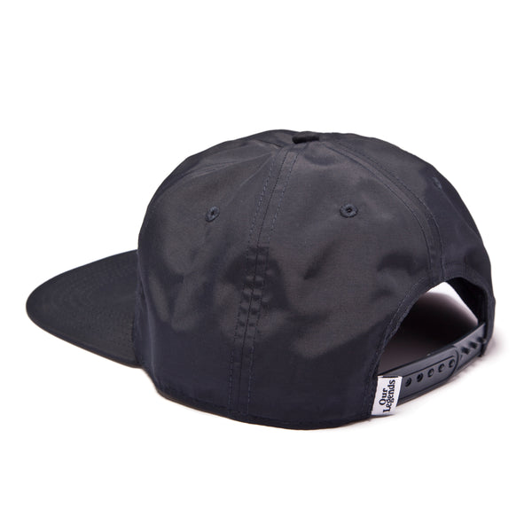 GT Nylon Crinkle Hat - Black