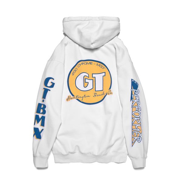GT Pro Performer Hoodie - White/Yellow