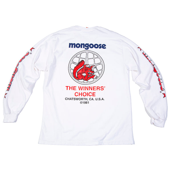 Mongoose USA Winners' Choice Long Sleeve - White w/ Red & Blue PRE-ORDER ONLY