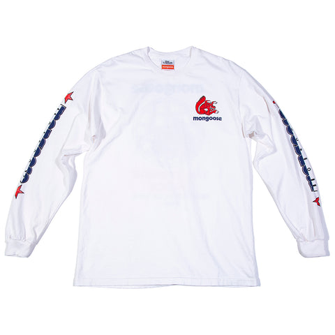 Mongoose USA Winners' Choice Long Sleeve - White w/ Red & Blue