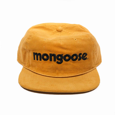 Mongoose Corduroy w/ Embroidery Hat - Mustard
