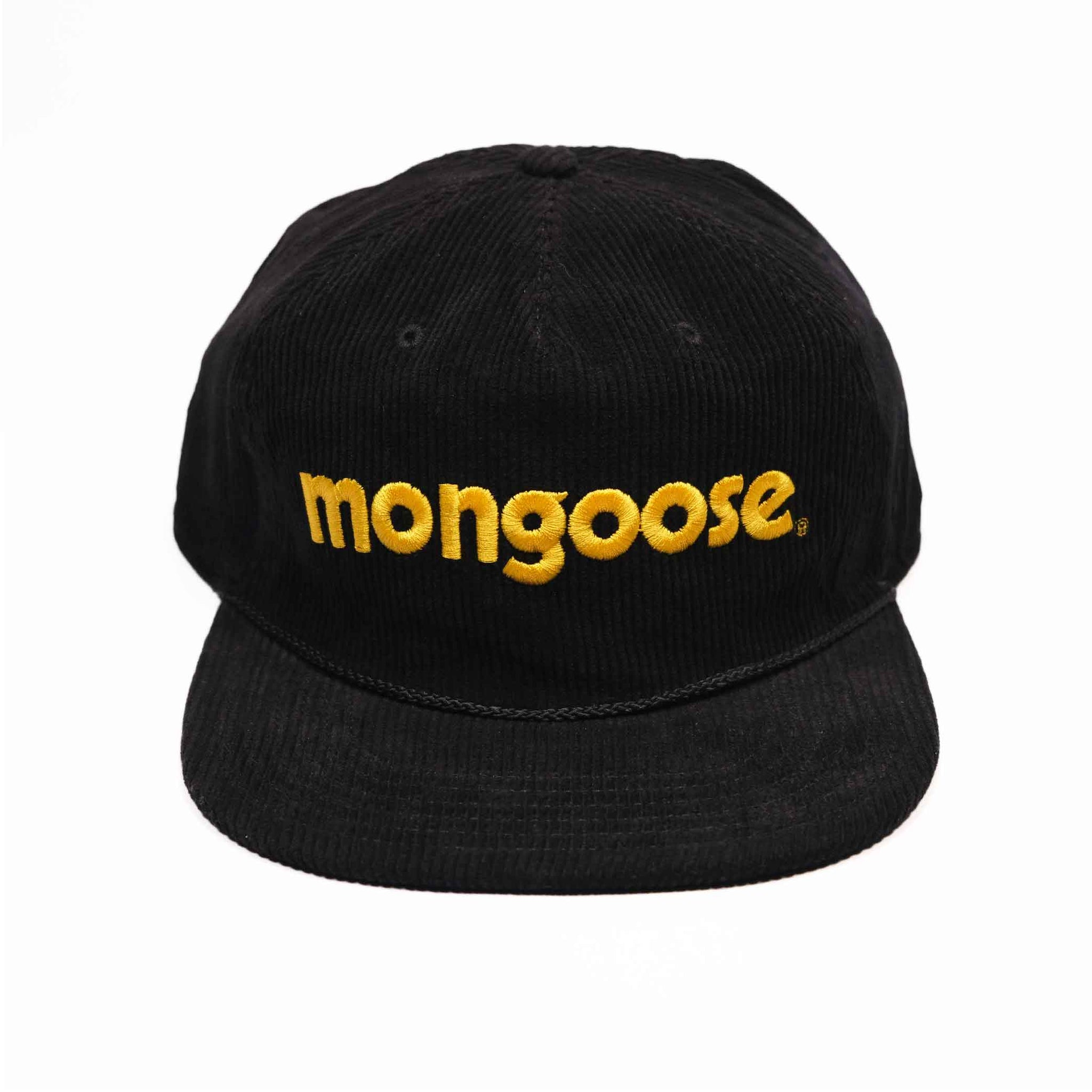 Mongoose Corduroy w/ Embroidery Hat - Black