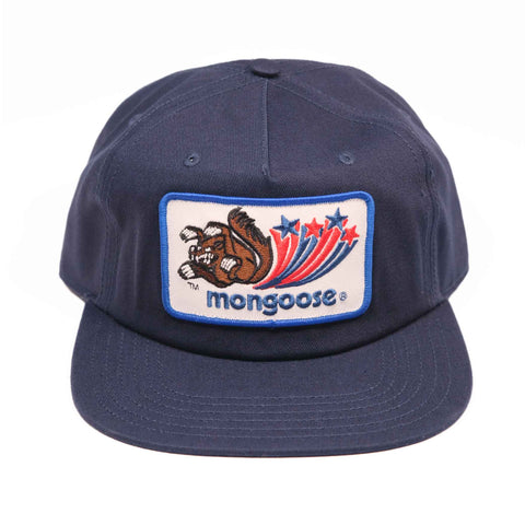 Mongoose Canvas Hat w/Patch - Navy