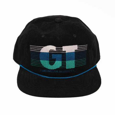 GT Corduroy w/ Embroidery Hat - Black