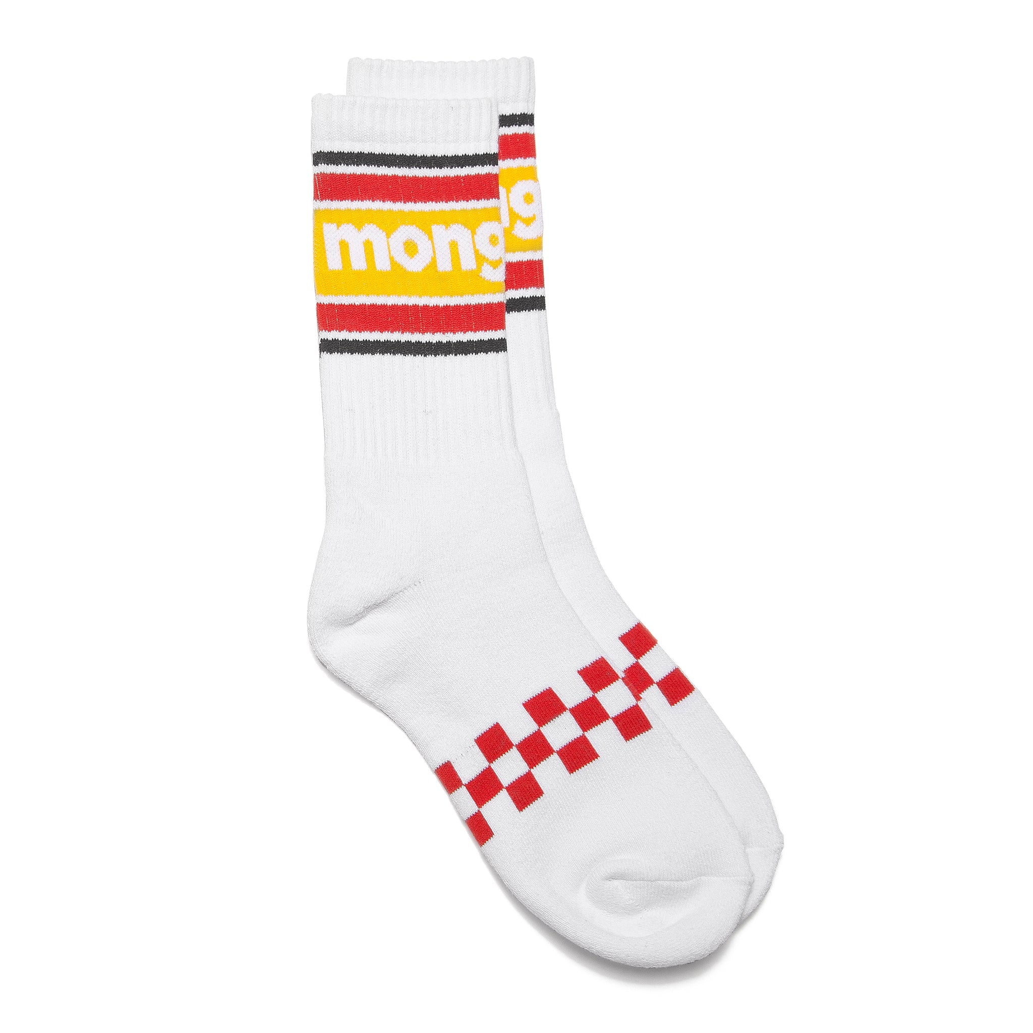 Mongoose Checkerboard Sock - White