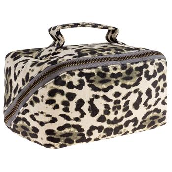 KARMA Leopard Zip Cosmetic Bag
