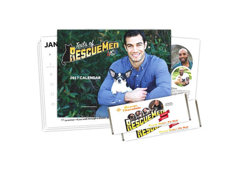 Tails of RescueMen Calendar + 2 PBPB Chocolate Bars