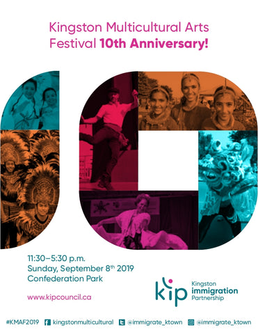 Get involved with the 10th Annual Kingston Multicultural Arts Festival-September 8th, 2019