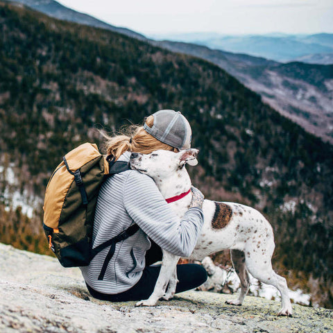 Flowfold x LLBean Collaboration Backpack Olive Green Hunter orange Coyote Brown Photo Cait Bourgault