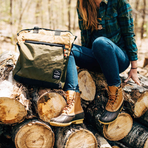 Flowfold x LLbean Collaboration collection Womens crossbody tote bag llbean boots